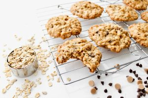 Chewy Oatmeal Chocolate Chip Cookies-