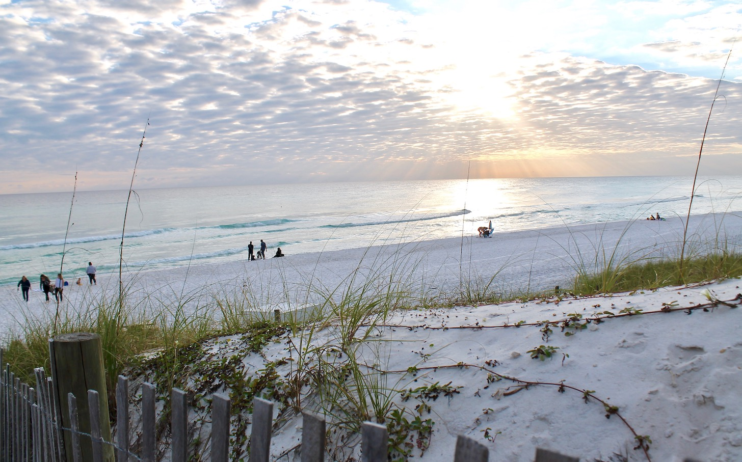 Beautiful Santa Rosa Beach, FL at sunset.