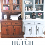 Easy DIY farmhouse hutch makeover chalk paint