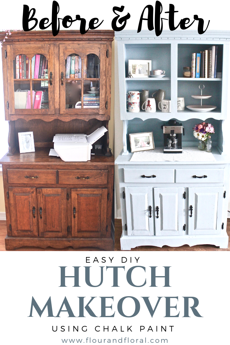 DIY Hutch Makeover Using Chalk Paint