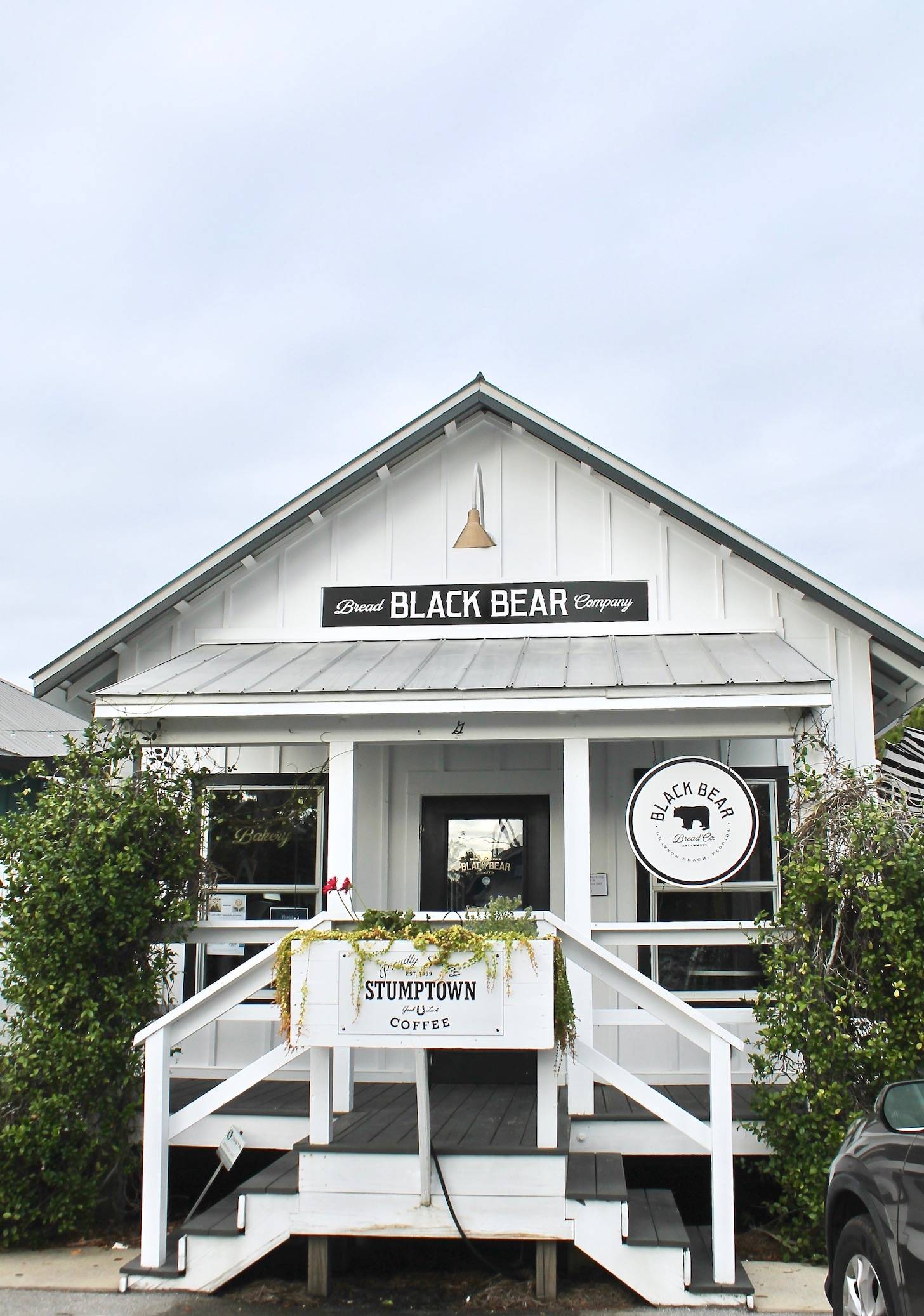 Go for breakfast and coffee at Black Bear Bread Co in Grayton Beach, FL.