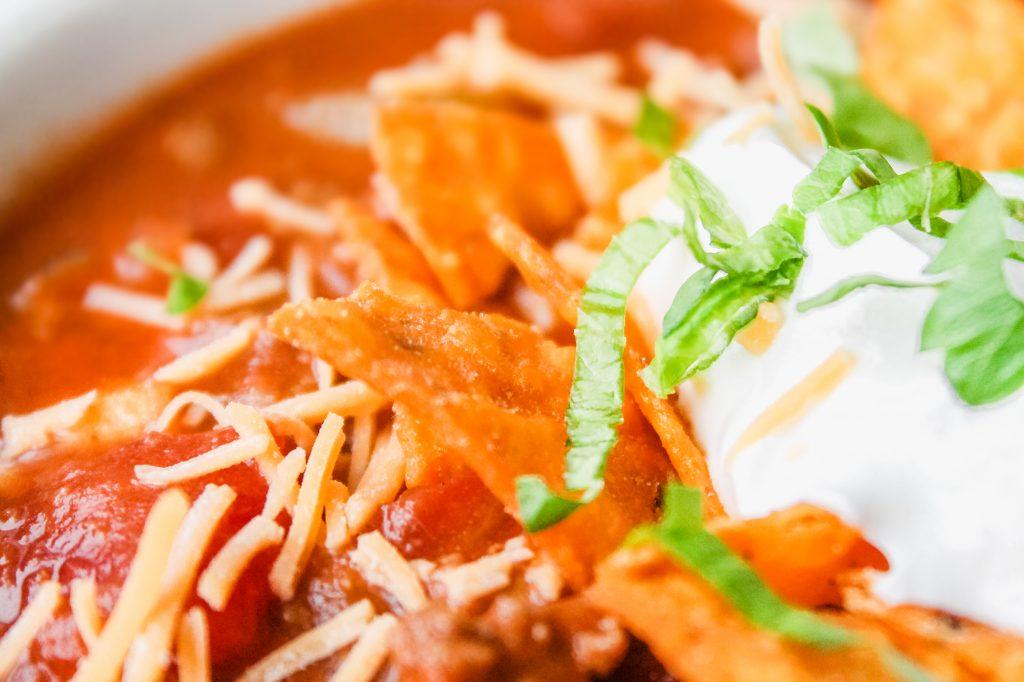 Taco Soup recipe mexican cheese tortilla chips-8