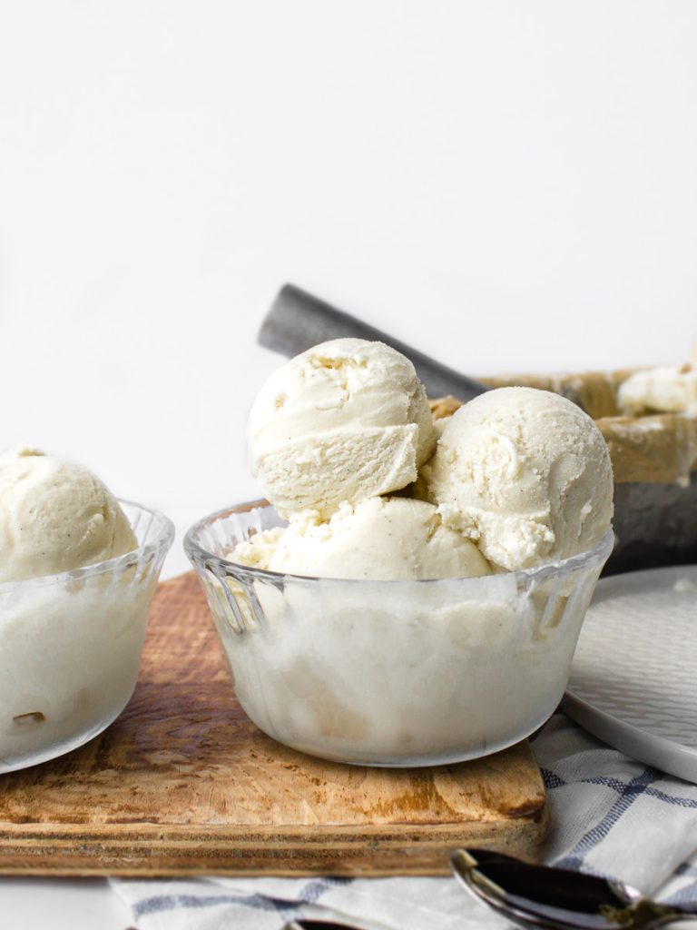 Homemade French Vanilla Bean Ice Cream