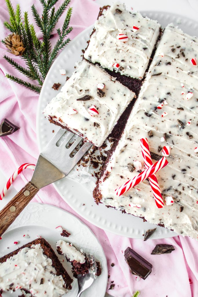 Chocolate Cake with Peppermint Stracciatella Buttercream