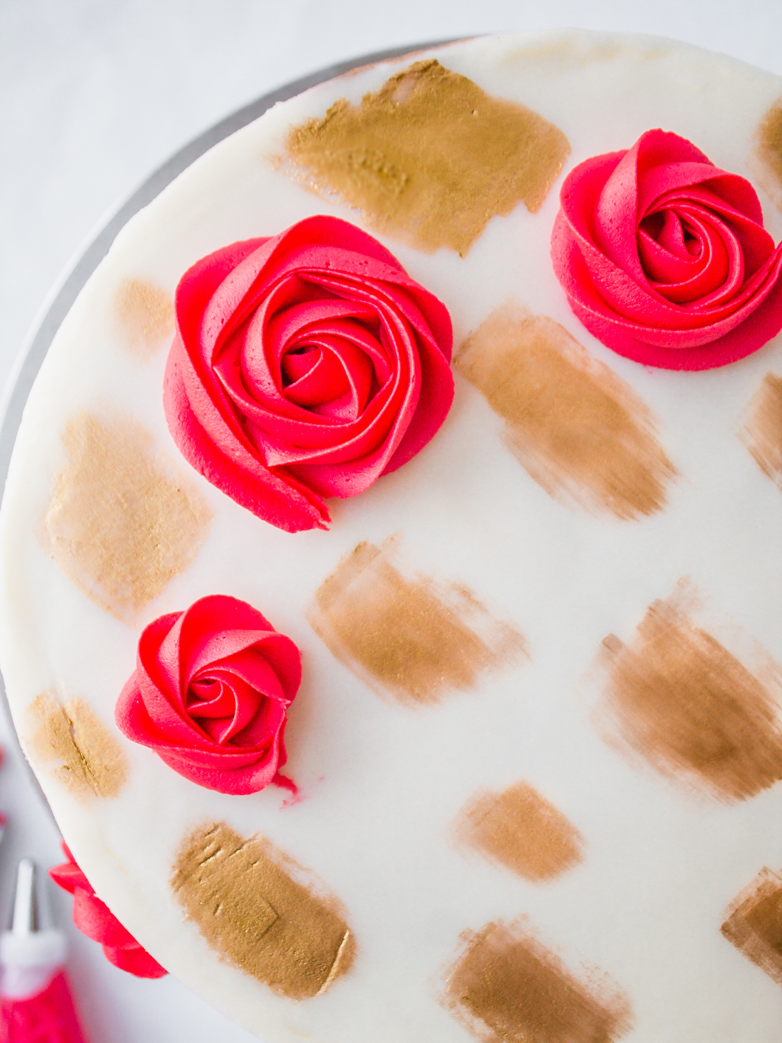Cranberry Orange Christmas Layer Cake Tutorial Buttercream Flowers