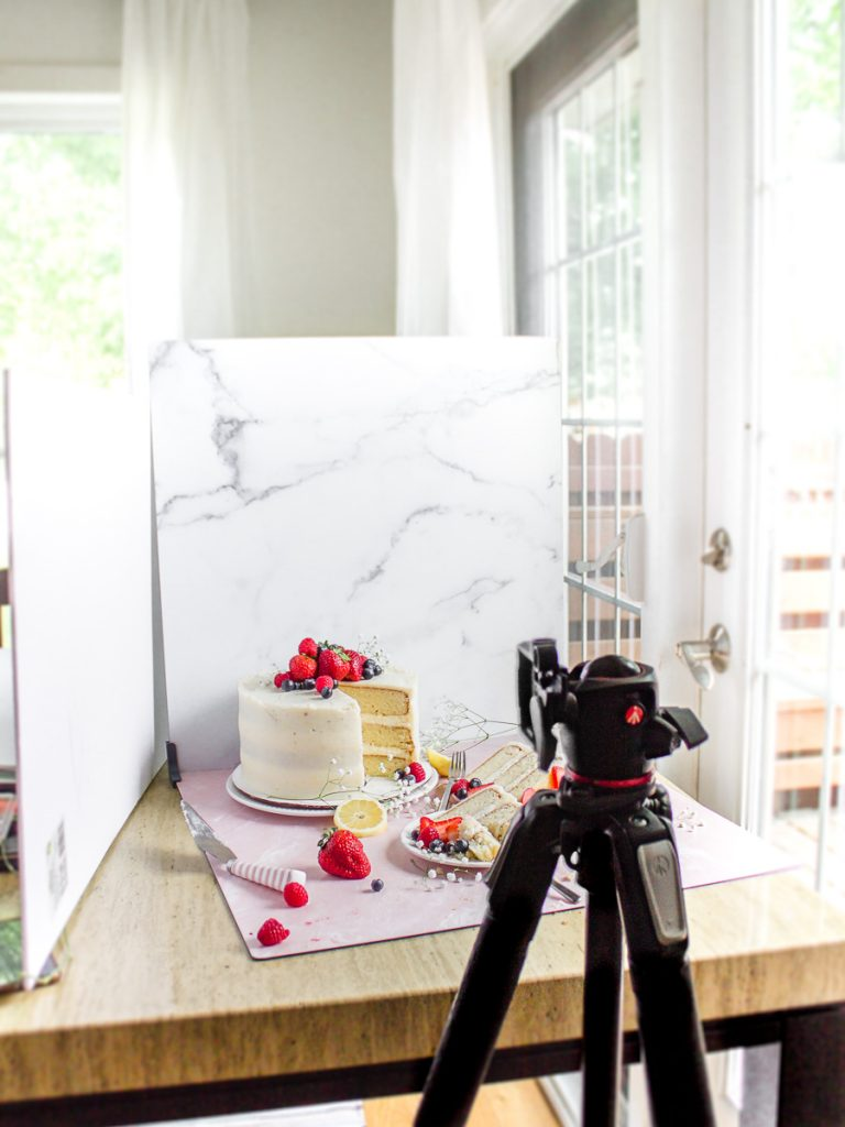 Food Photography tips natural light behind the scenes studio