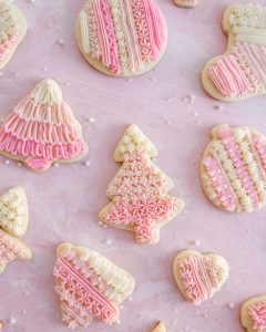 Vanilla Bean Christmas Sugar Cookies with Buttercream Frosting