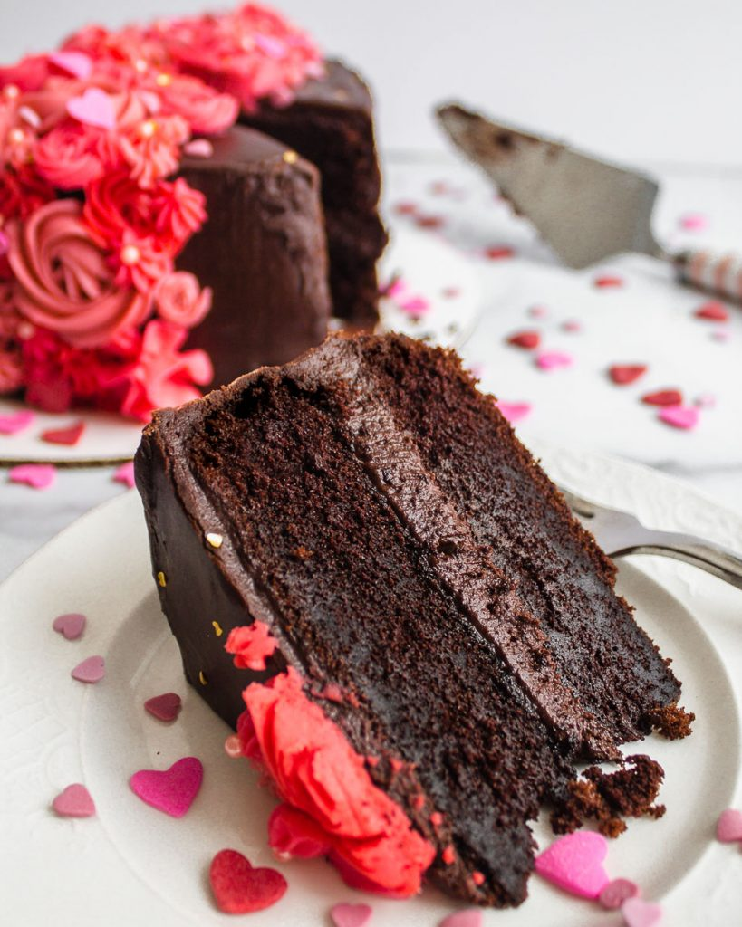 Valentine's Day Chocolate Cake
