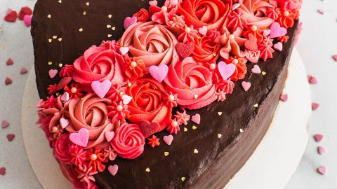 Brilliant Valentines Day Chocolate Cake Tutorial Flour Floral Funny Birthday Cards Online Eattedamsfinfo