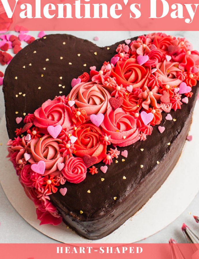 Valentine's Day Chocolate Cake Tutorial