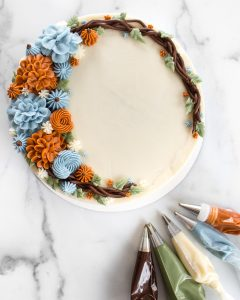 Buttercream Autumn Wreath Cake